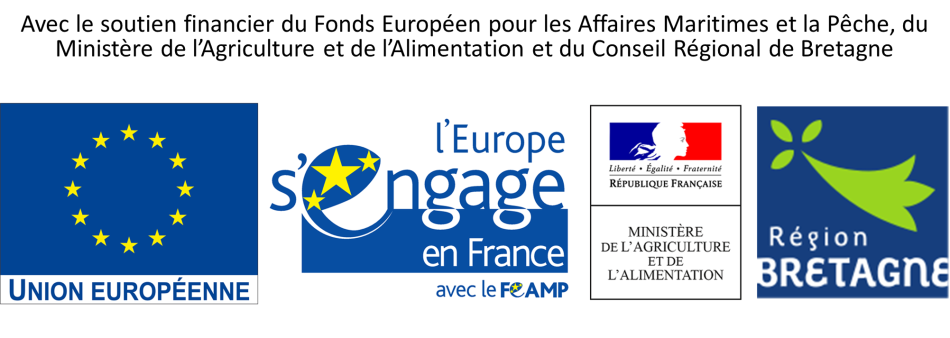Logos financeurs région bretagne europe