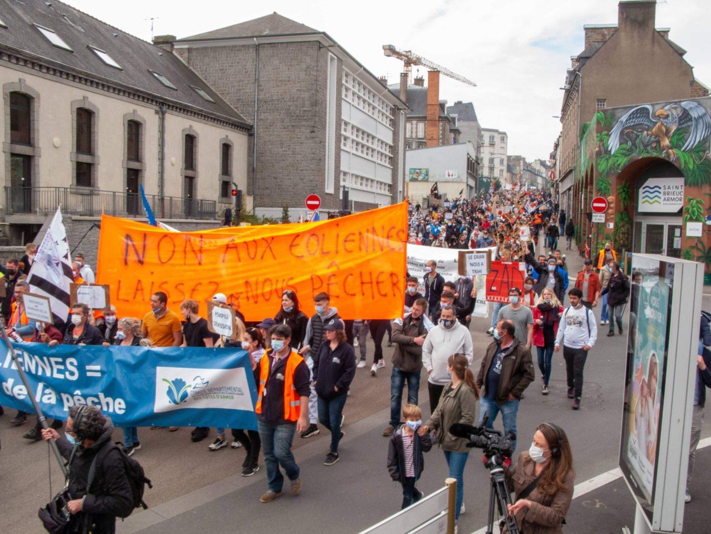 Rassemblement pacifique du 29 mai 2021 contre le projet de parc éolien en baie de Saint-Brieuc