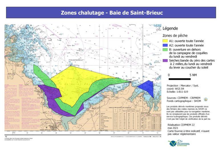 carte chalut baie Saint-Brieuc